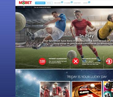 บริการพนันฟุตบอล มือถือ m8bet