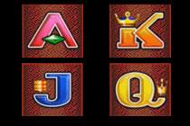สัญลักษณ์สล็อต A K J Q